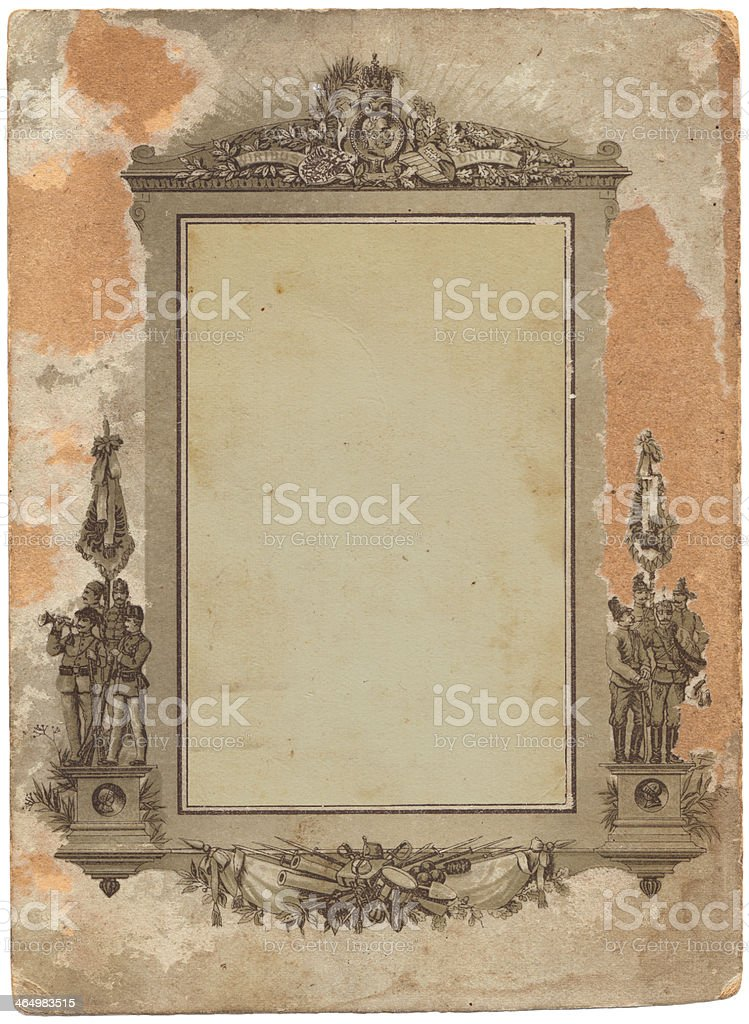 Austro-Hungarian Monarchy photo postcard royalty-free stock photo