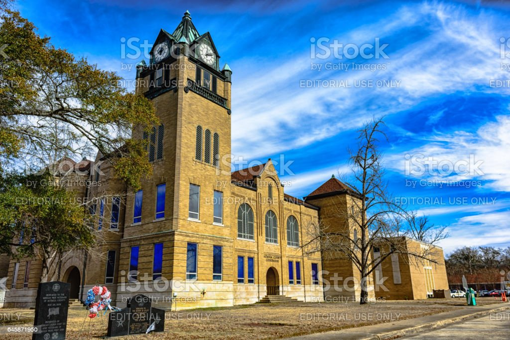 Autauga County Courthouse - details extracted stock photo