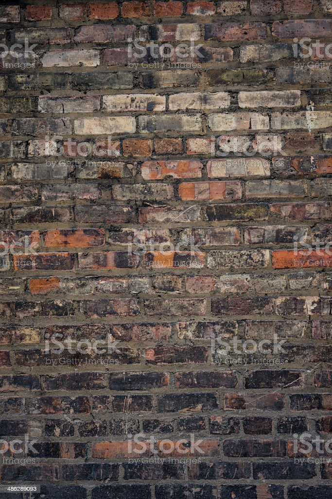 Authentic brick wall 19th century stock photo