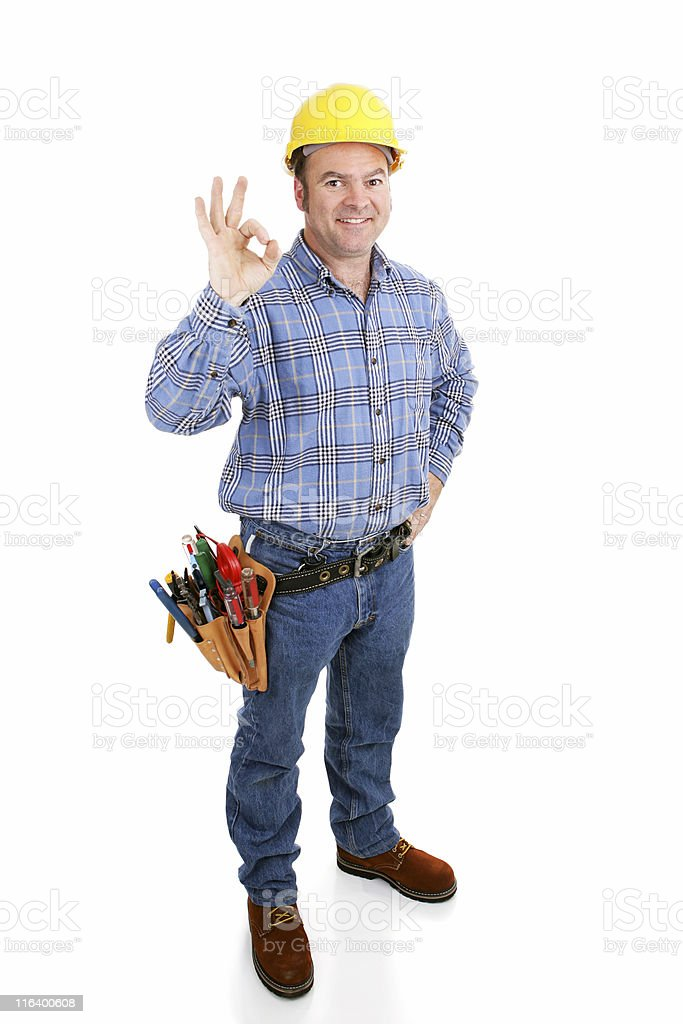 Authentic Construction Worker - AOkay royalty-free stock photo