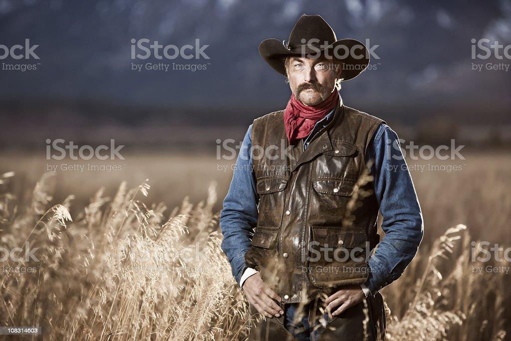 Authentic Cowboy Rancher Portrait stock photo