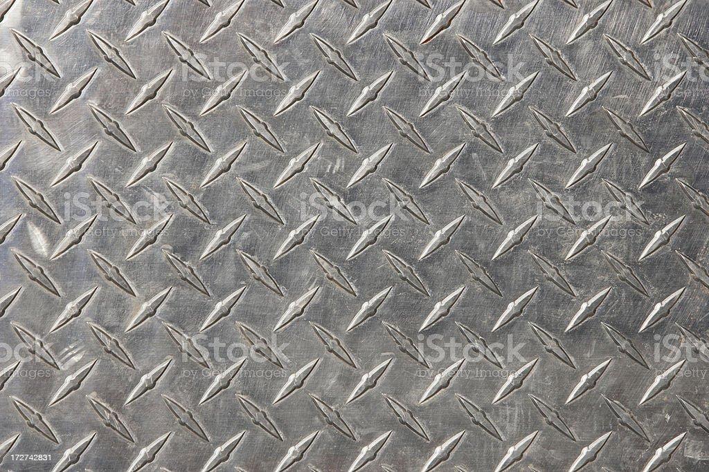 Authentic diamond plate steel stock photo