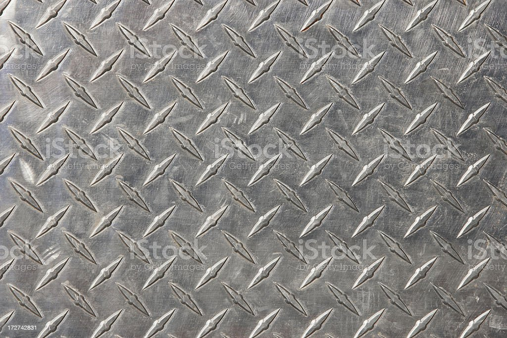 Authentic diamond plate steel stock photo