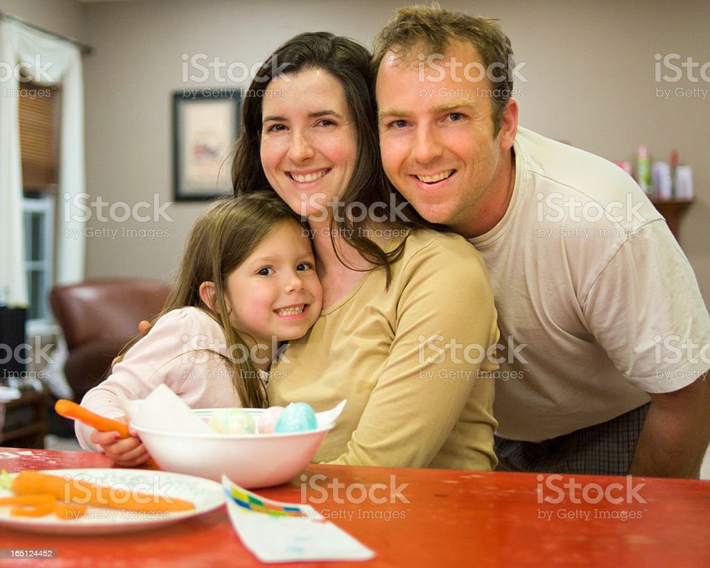 Authentic Family Easter Portrait royalty-free stock photo