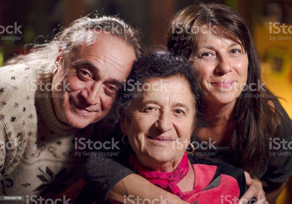 Authentic family portrait stock photo
