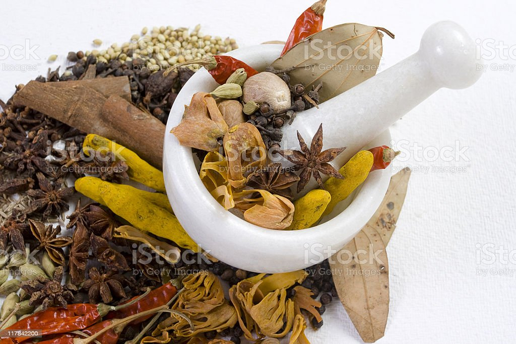 Authentic Indian Spices stock photo