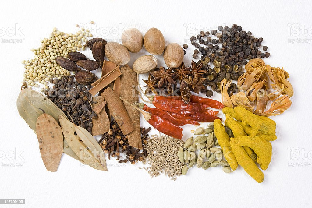 Authentic Indian Spices...series stock photo