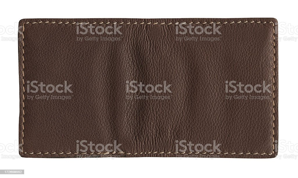 authentic leather patch stock photo