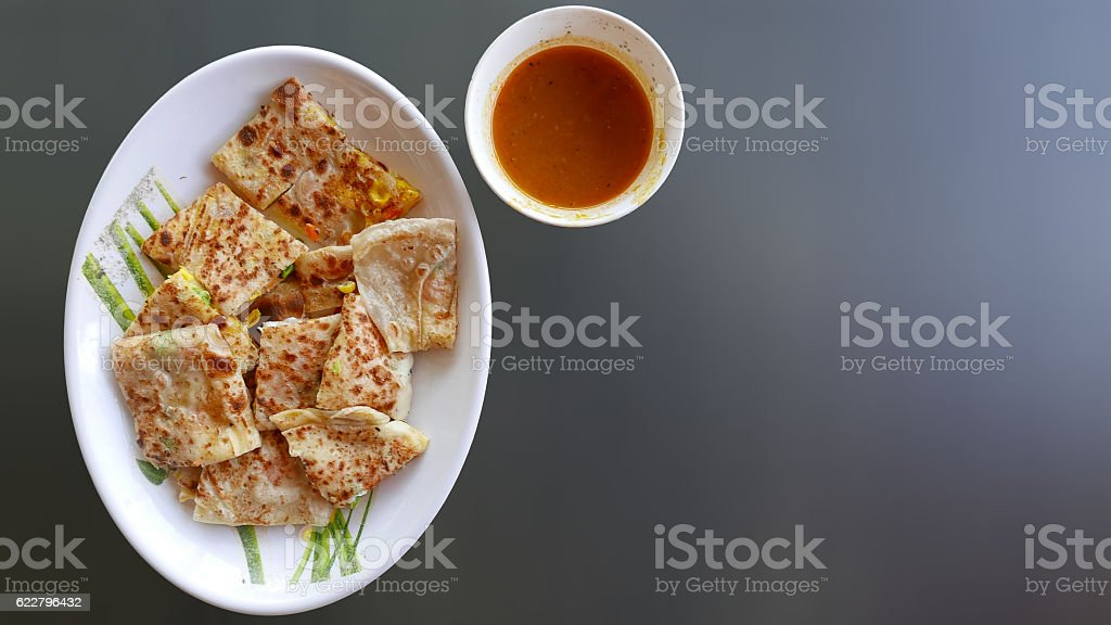 Authentic Malaysian food from family street restaurant in Taman stock photo