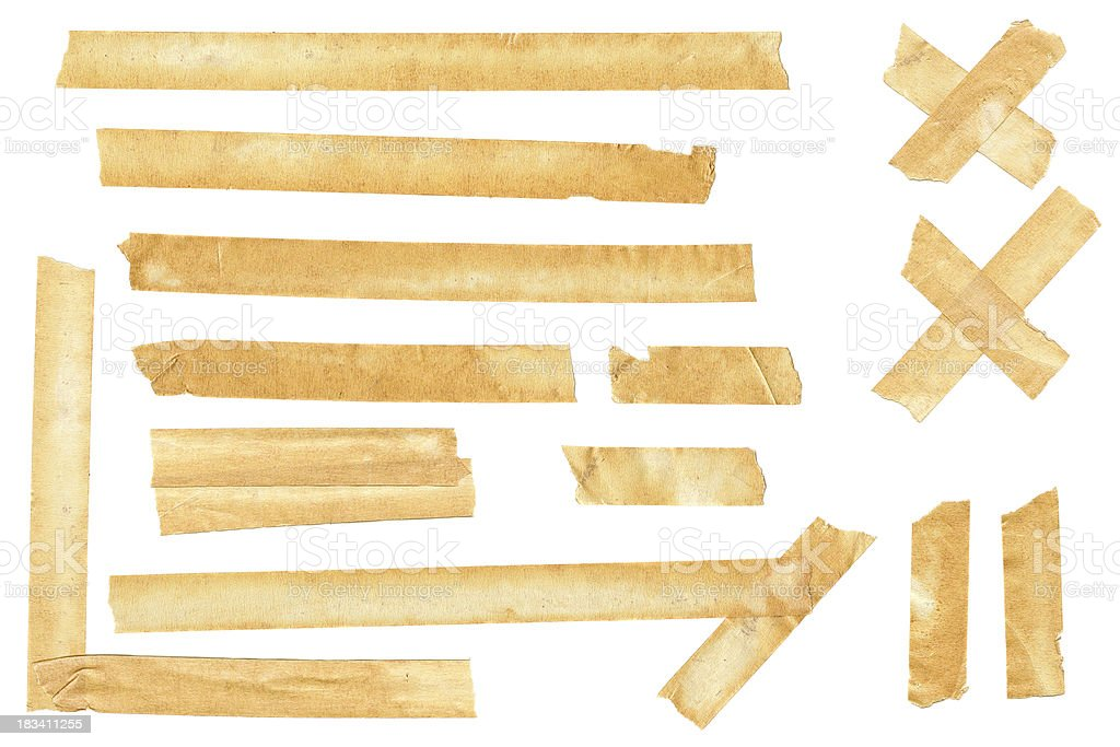 Authentic Masking Tape Pieces royalty-free stock photo