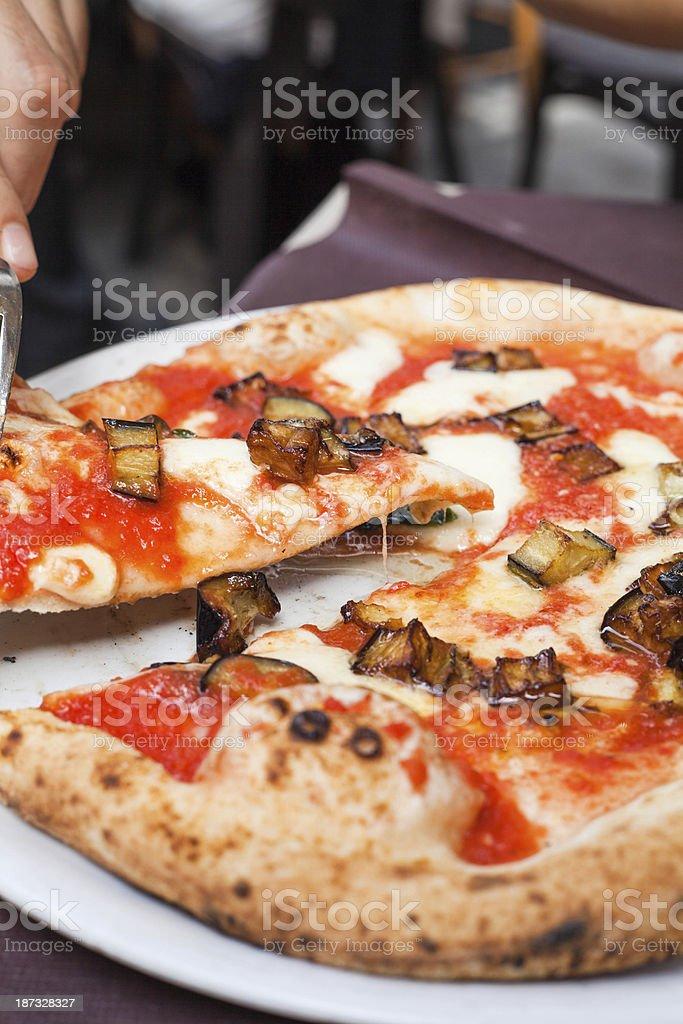 Authentic Neapolitan Pizza Margherita royalty-free stock photo