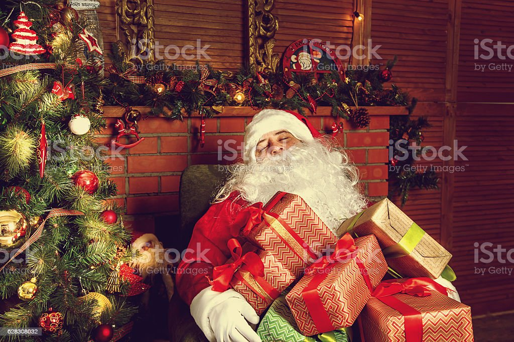 Authentic Santa Claus. stock photo