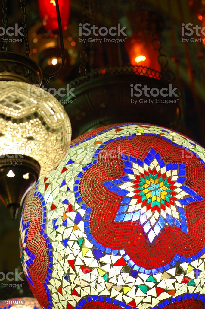 authentic turkish lamps royalty-free stock photo