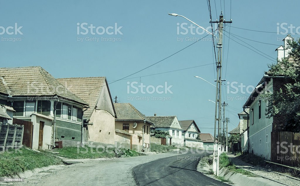 Authentic Village in Eastern Europe stock photo