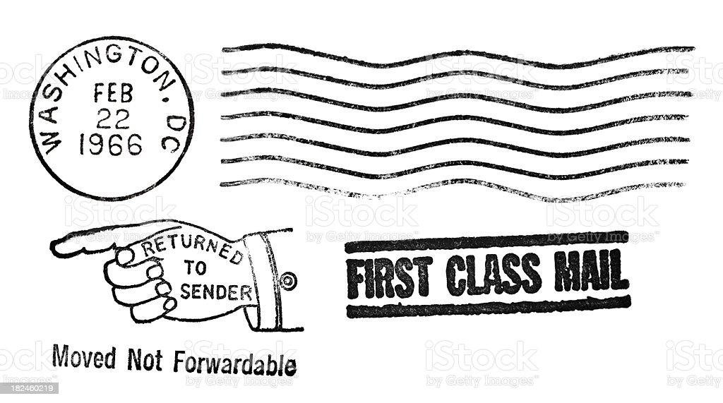 Authentic Wahington DC Vintage Postmarks stock photo