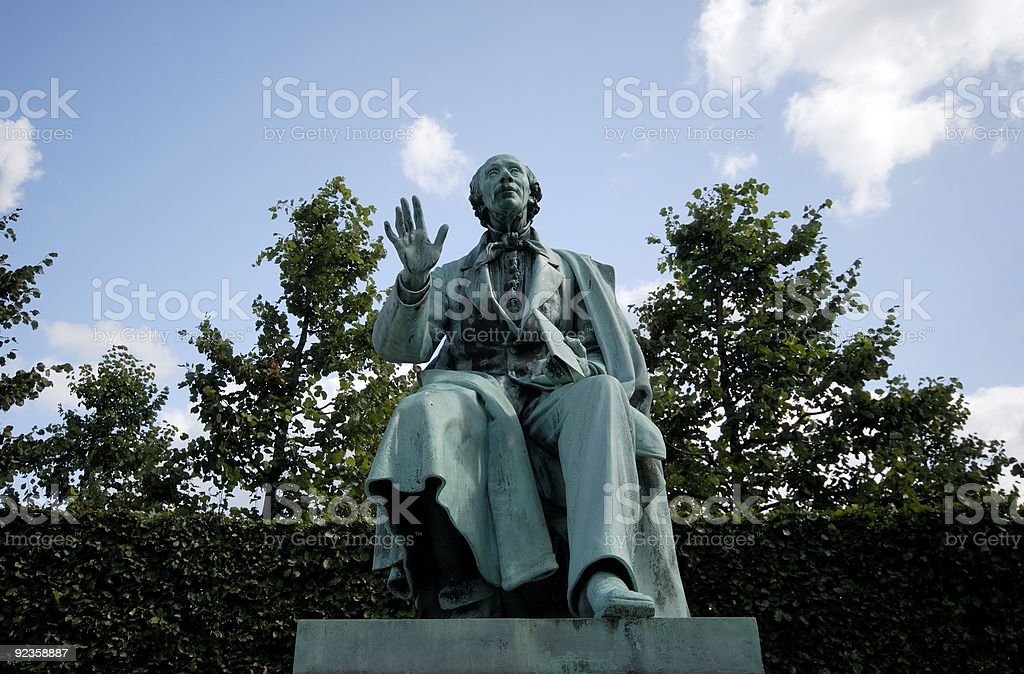 Author Hans Christian Andersen stock photo