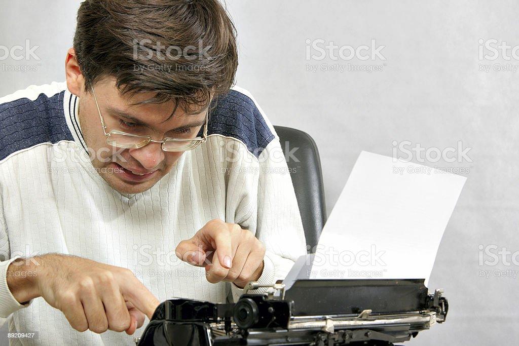 Author type bestseller stock photo