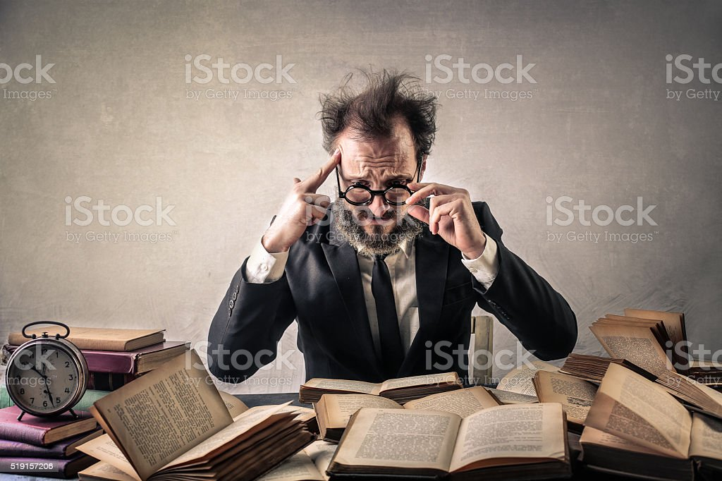 Author under pressure stock photo