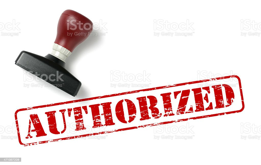 Authorized Rubber Stamp stock photo