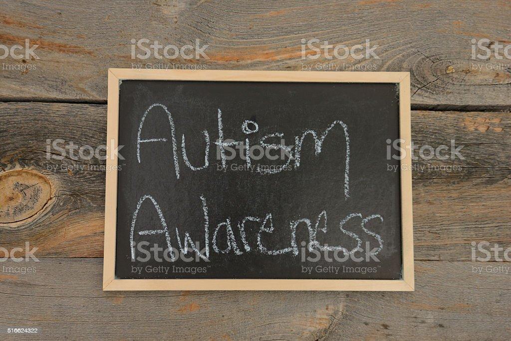 Autism Awareness in school stock photo