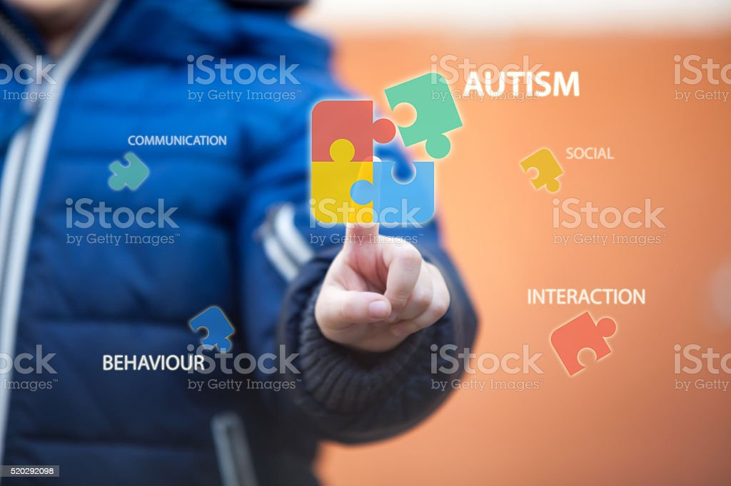 Autism awareness. stock photo