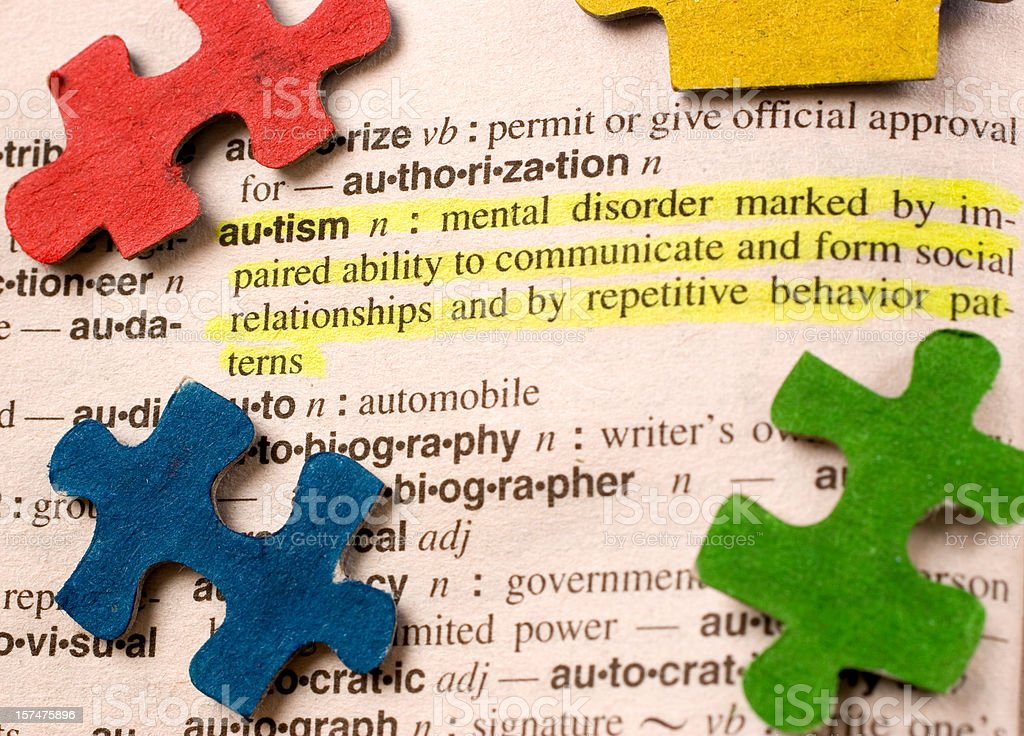 Autism Definition royalty-free stock photo