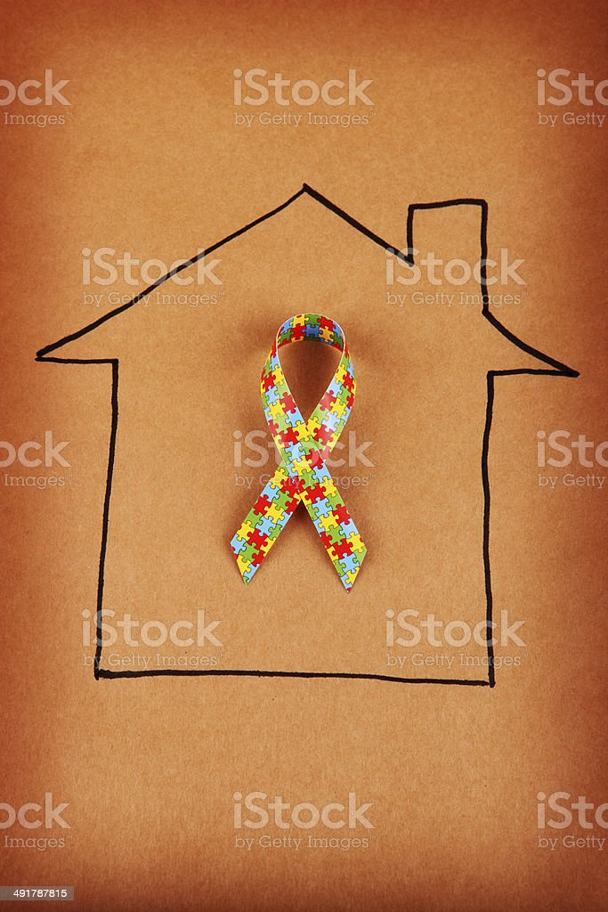 Autism Home royalty-free stock photo