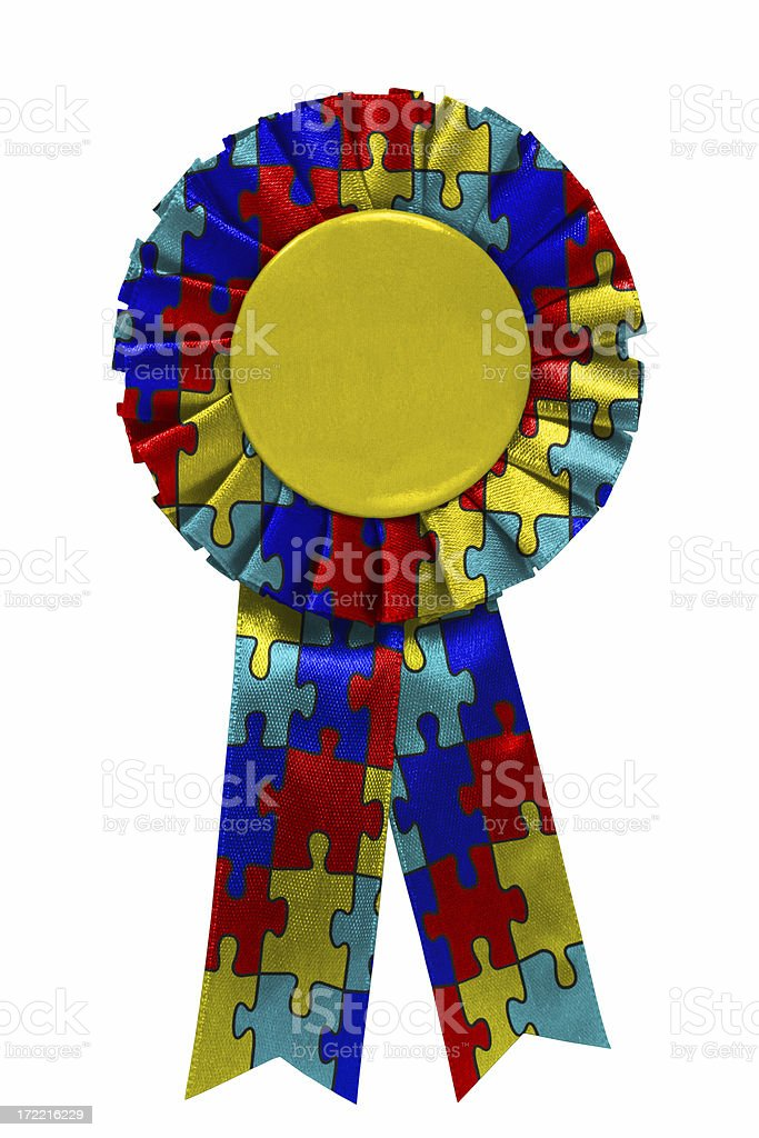 Autism ribbon stock photo