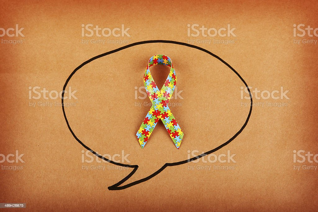 Autism Shout Out royalty-free stock photo