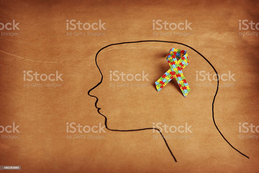 Autism Thoughts stock photo