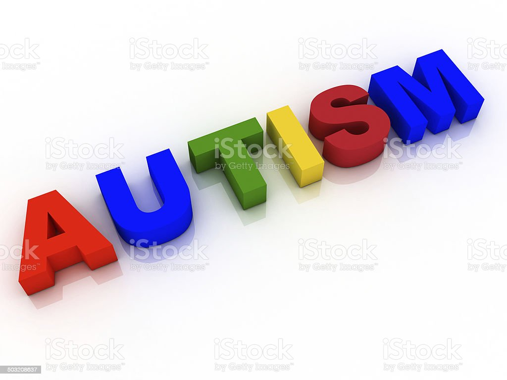Autism Word Background Hope Research vector art illustration