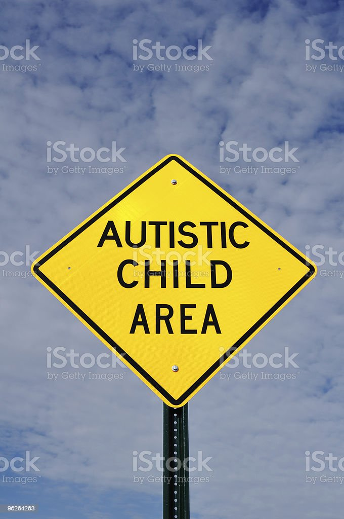 Autistic Child Area Sign royalty-free stock photo
