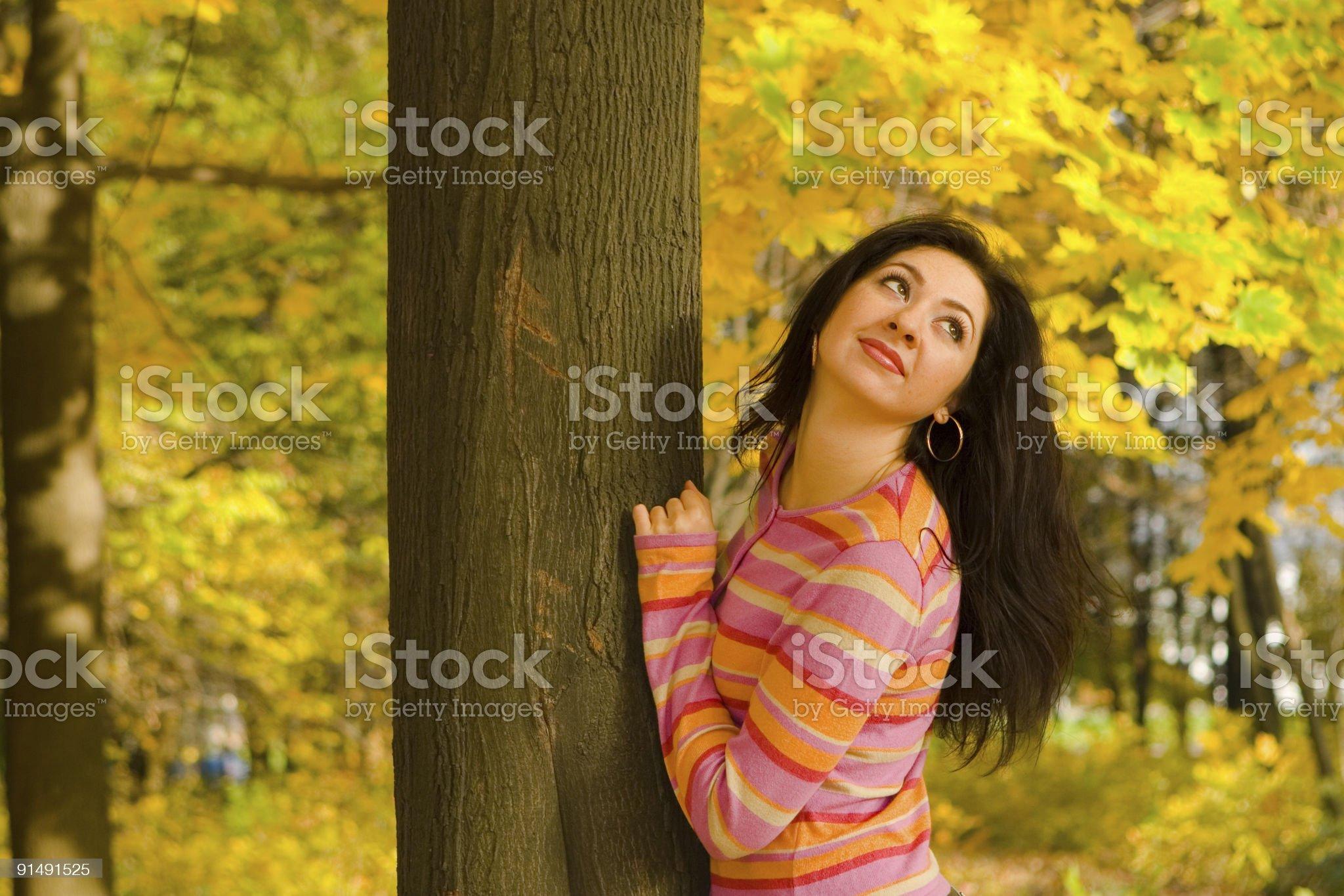 autmun fashion girl portrait royalty-free stock photo