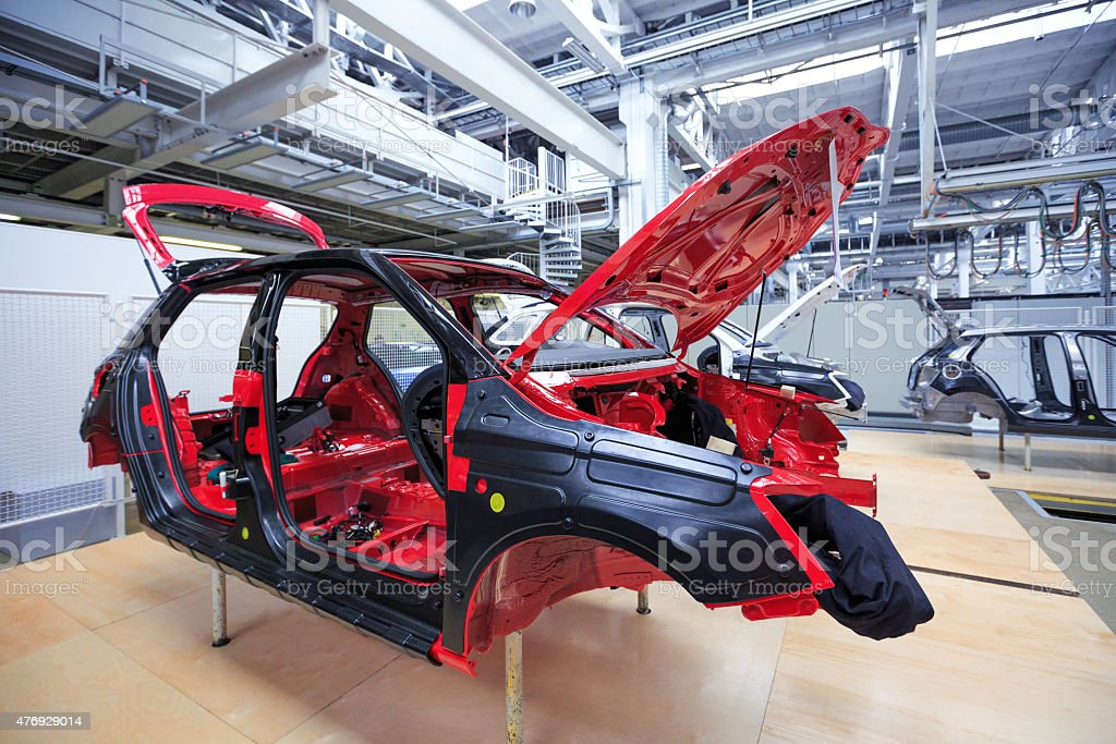 auto body at car plant stock photo