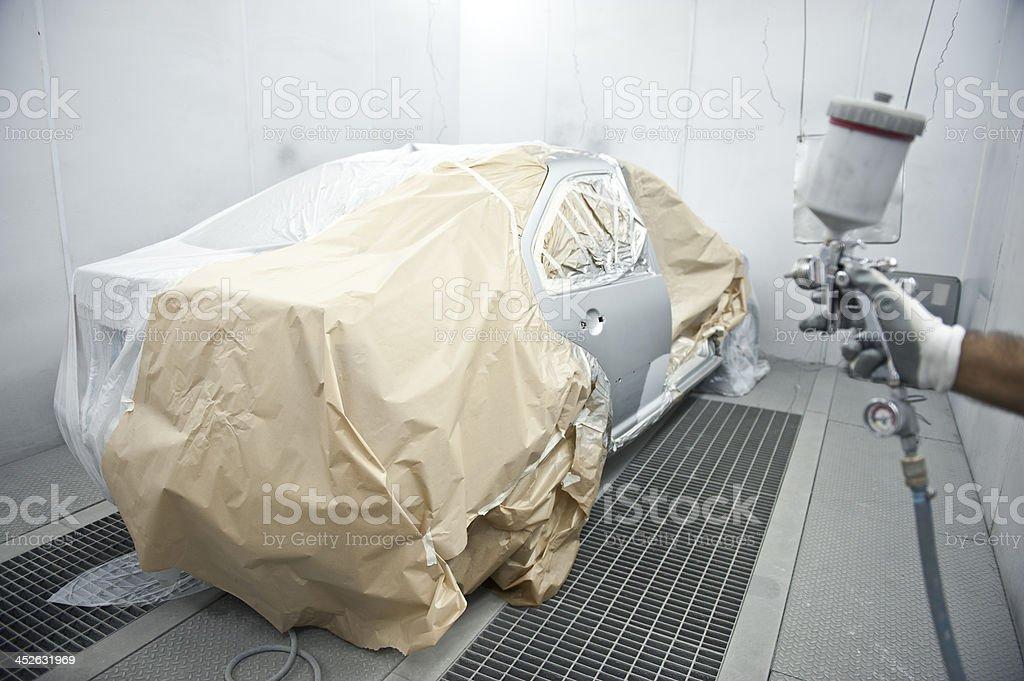 Auto Body Paint Repair stock photo