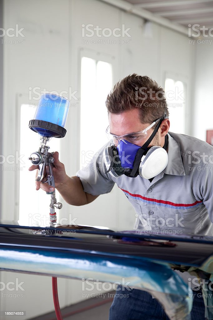 Auto Body Repair Shop royalty-free stock photo