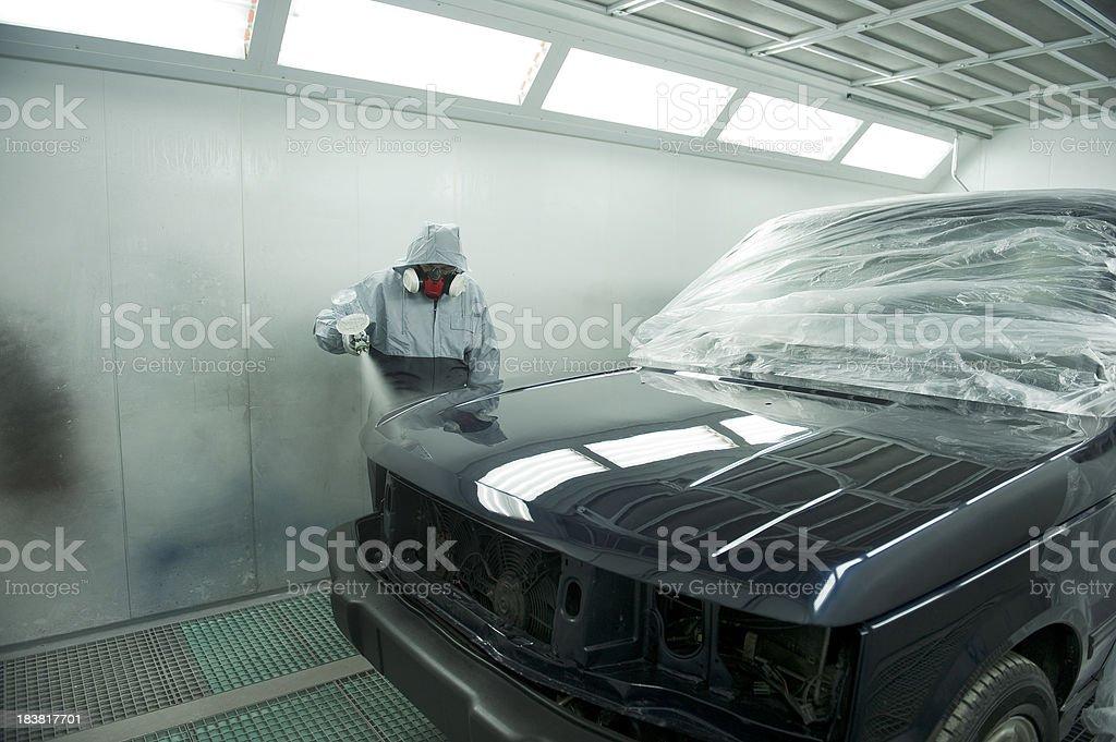 Auto Body Shop stock photo