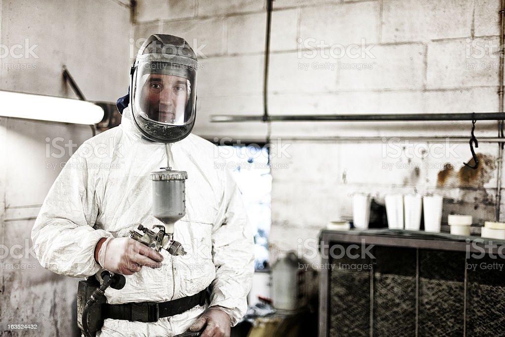 Auto body technician stock photo