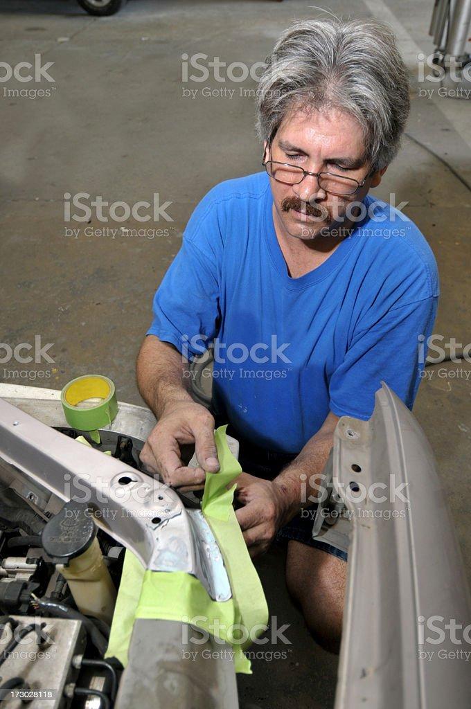 Auto Body Technician royalty-free stock photo