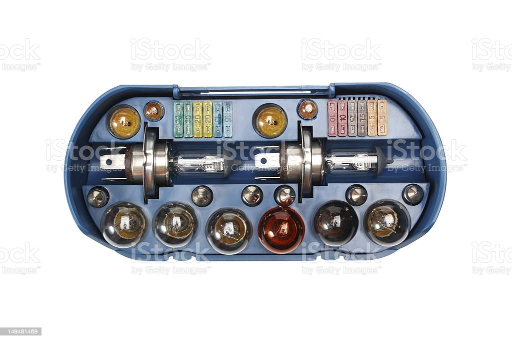 Auto Bulb and Fuses Kit royalty-free stock photo