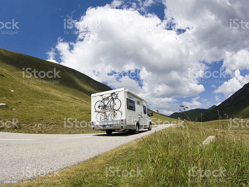 Auto Camper. Motor Home stock photo