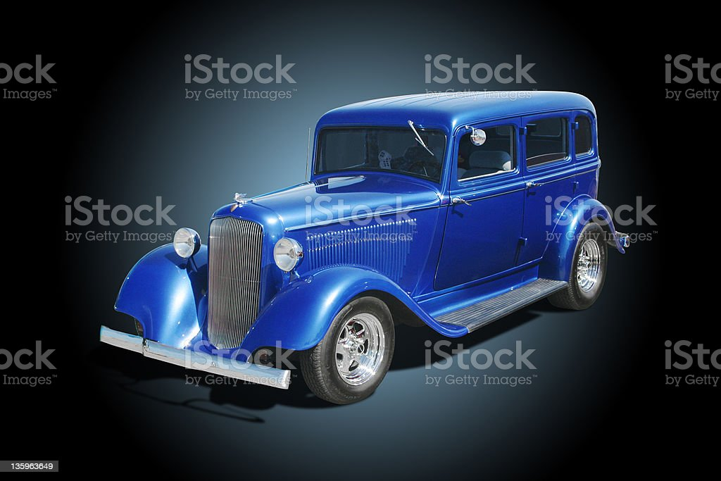 Auto Car - 1933 Plymouth 4 Door Sedan Hot Rod stock photo