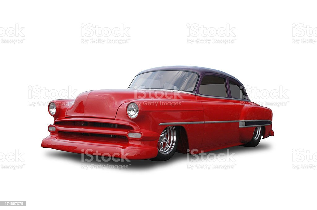 Auto Car - 1954 Chevrolet Sedan Low Rider royalty-free stock photo