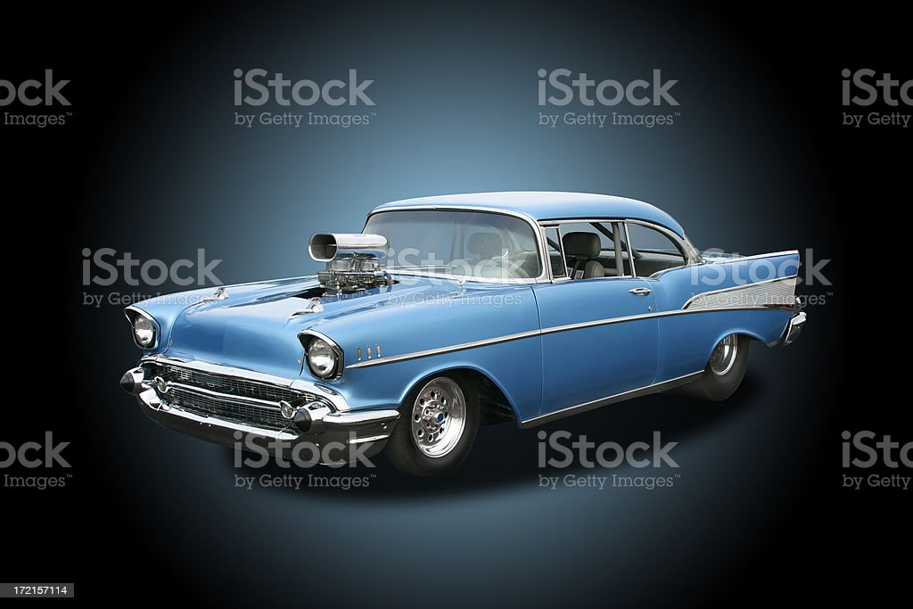 Auto Car - 1957 Chevrolet Bel Air Hot Rod royalty-free stock photo