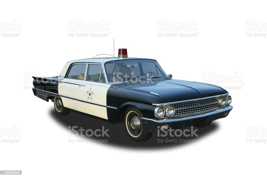 Auto Car - 1961 Ford Galaxie Mayberry Sheriff Police Car royalty-free stock photo