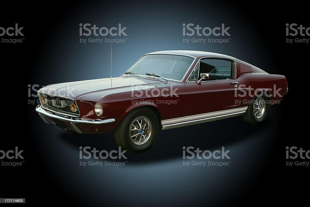 Auto Car - 1967 Ford Mustang GT royalty-free stock photo