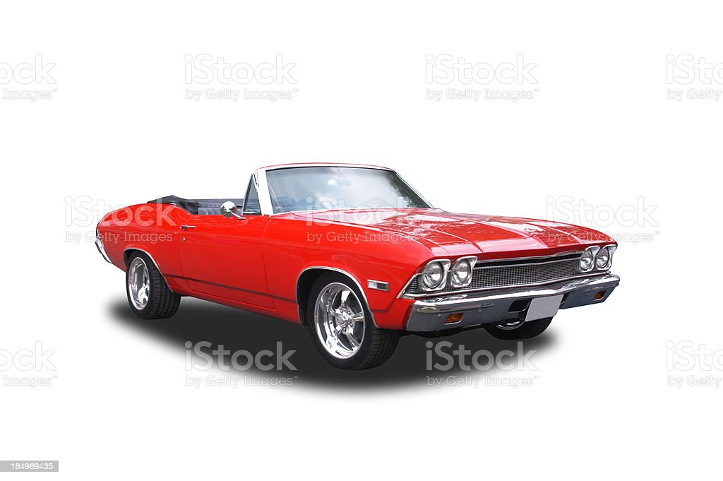 Auto Car - 1968 Chevrolet 396 Convertable royalty-free stock photo