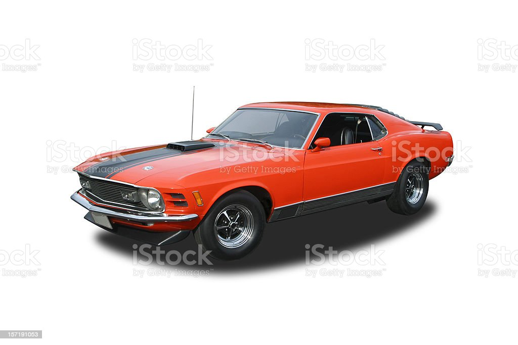 Auto Car - 1970 Ford Mustang Mach 1 stock photo
