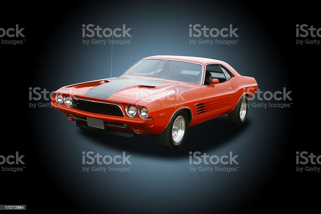 Auto Car - 1972 Dodge Challenger royalty-free stock photo