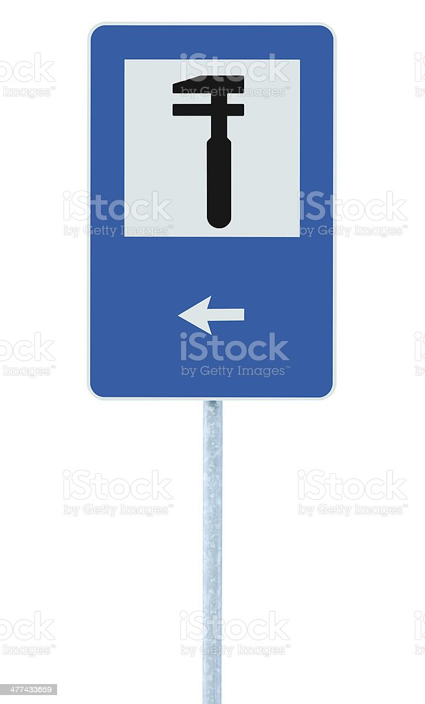 Auto Car Repair Shop Icon, Vehicle Mechanic Fix Service Sign royalty-free stock photo